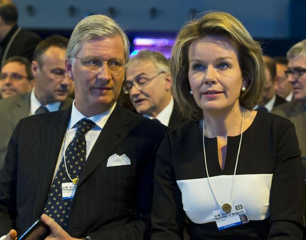 King Philippe and Queen Mathilde - World Economic Forum - Davos - Switzerland