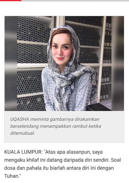 Uqasha Senrose Pilih Buka Tudung