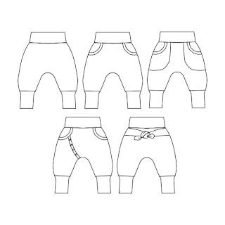 baggybyxor barn mönster barnmönster klädmönster variationstips unika byxor