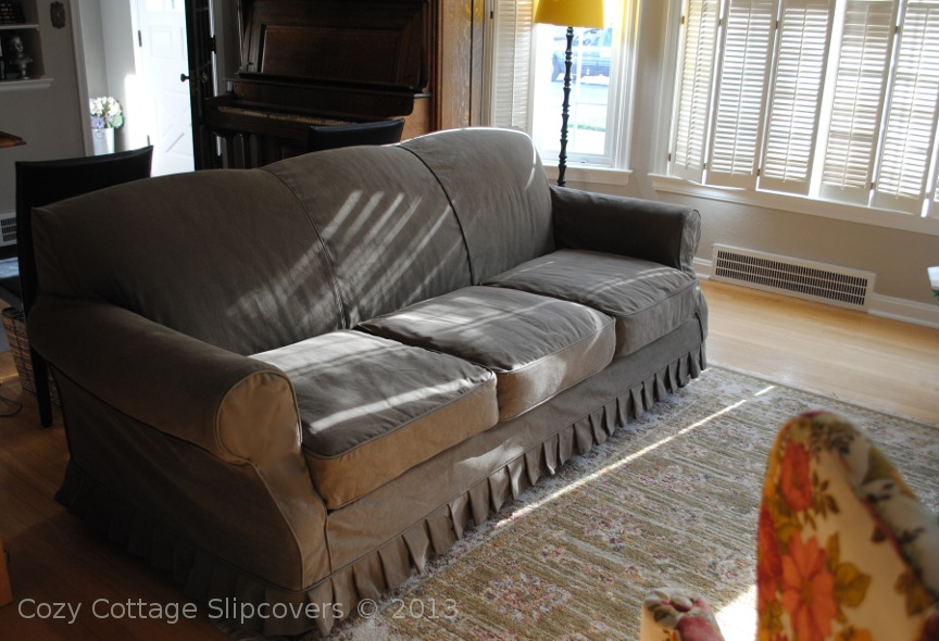 Slipcover For Leather Sofa