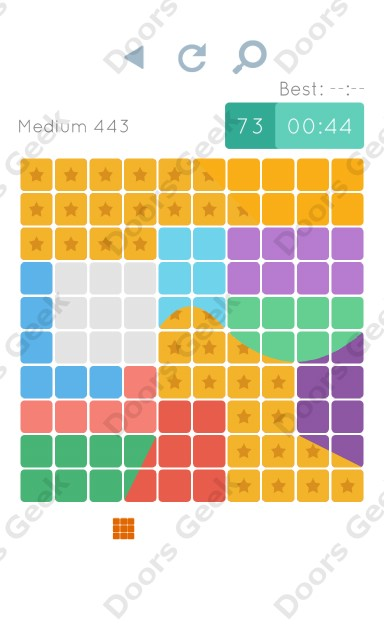Cheats, Walkthrough for Blocks and Shapes Medium Level 443
