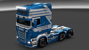 White Lines paint job for Scania RJL