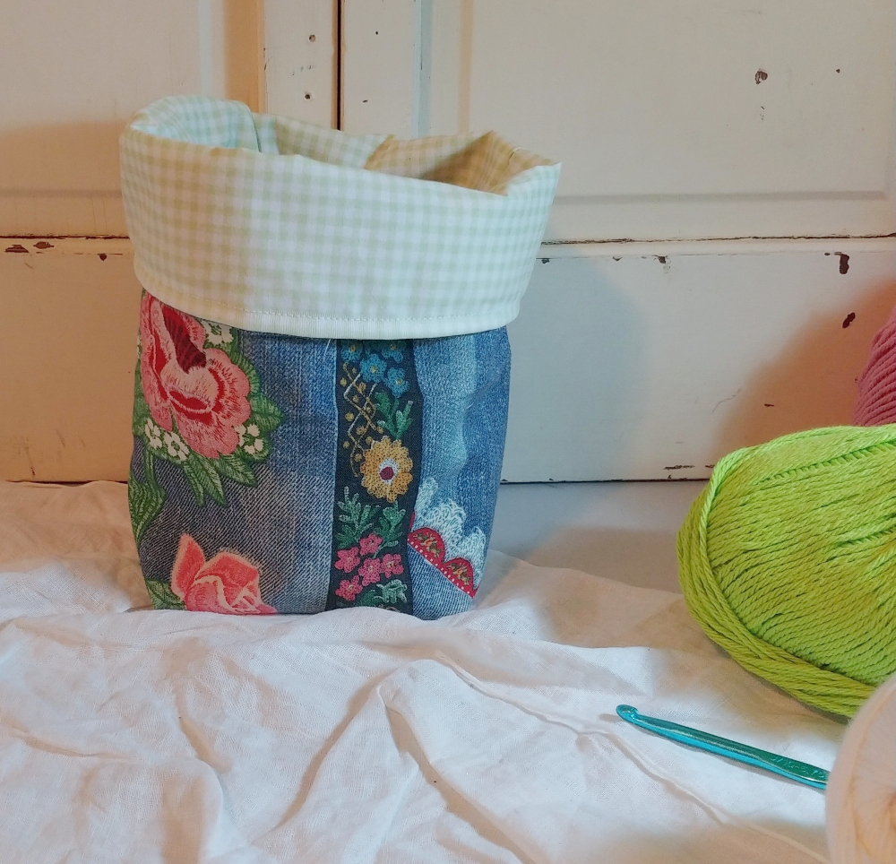 how to make a lined fabric basket