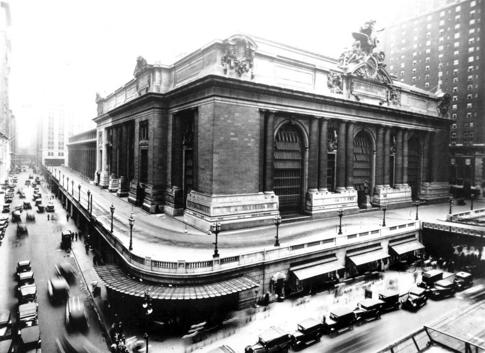 Grand Central Terminal en E. 42nd St. y Vanderbilt Ave. En nueva york.