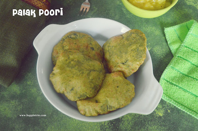Palak Poori Recipe | How to make Spinach Poori