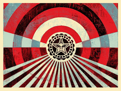 "Obey Giant ""Tunnel Vision"" Blue Edition Screen Print by Shepard Fairey"