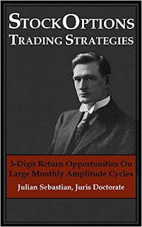 Stock Options Trading Strategies: 3-Digit Return Opportunities On Large Monthly Amplitude Cycles by Julian Sebastian, Juris Doctorate