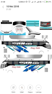 Riview Livery Bus BUSSID Dieng Indah XHD + Link Download Livery Bus BUSSID Dieng Indah XHD