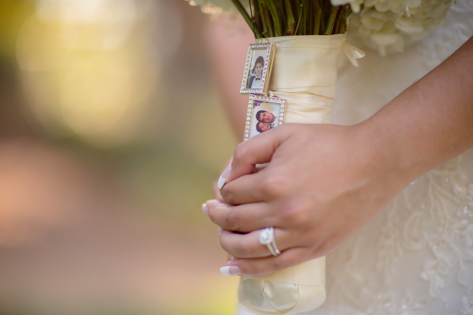 Bouquet Charms in Tribute to Father of the Bride