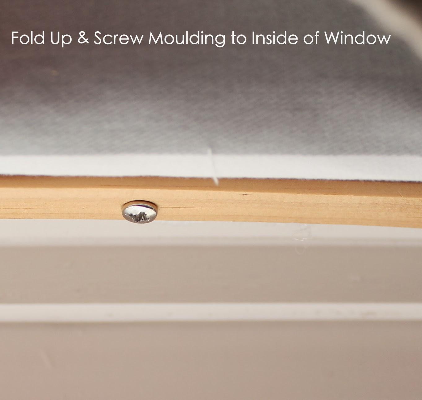 hot glue gun window treatment