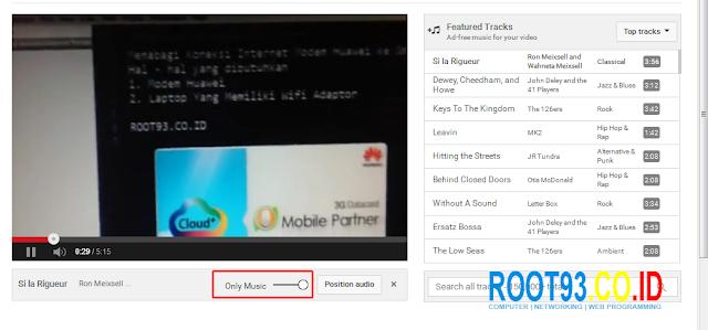 menambahkan file audo yang tersedia ke video