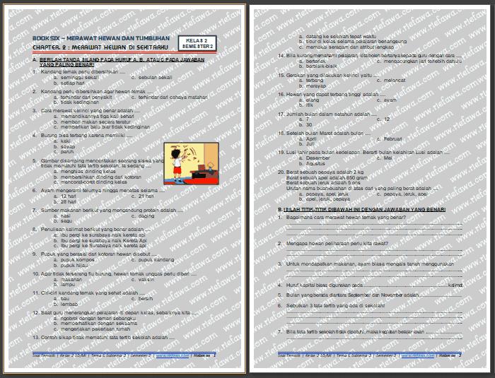 Soal Tematik Kelas 2 Tema 6 Subtema 2 Semester 2 Kurikulum 2013 Tahun 2020 2021 Dunia Edukasi