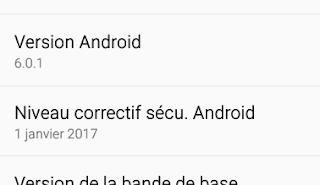 Dans Paramètres, votre appareil est indiquée la version d'Android