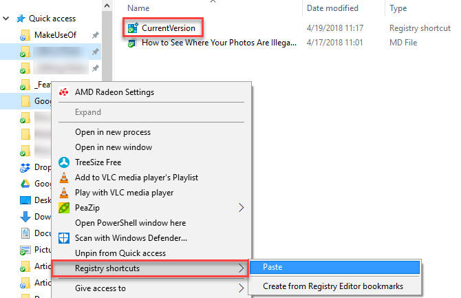 Cómo crear accesos directos a claves de registro en Windows