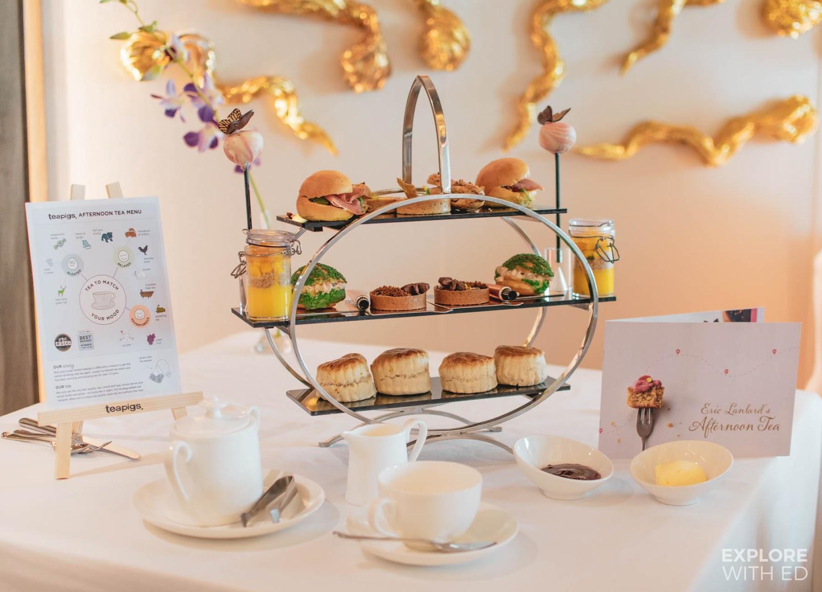 Eric Lanlard Afternoon Tea onboard P&O Cruises Britannia with teapigs tea