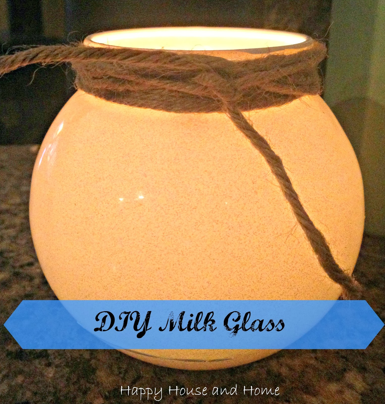 faux milk glass, DIY milk glass, milk glass