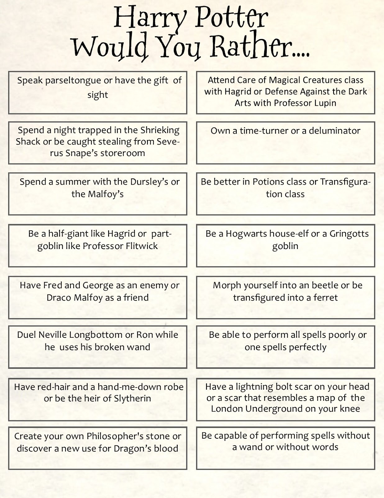 Harry Potter Spells Pdf