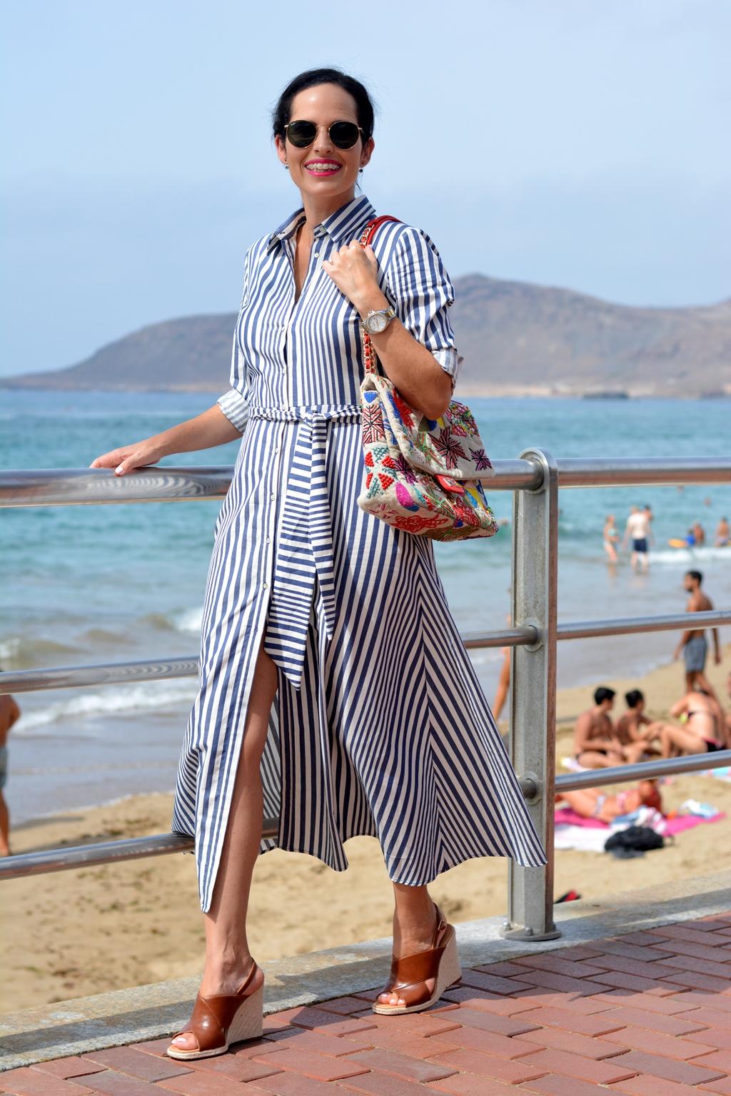 zara-striped-long-dress-outfit-personal-shopper