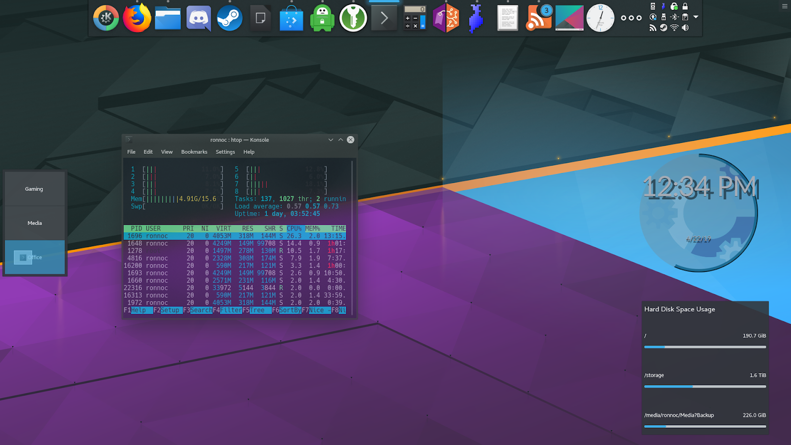 K * Digest!: All KDE Plasma 5 Wallpapers Released So Far In