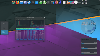 "One of Plasma's venerable wallpapers, This one's entitled ""Skylight"" - From Plasma 5.7"