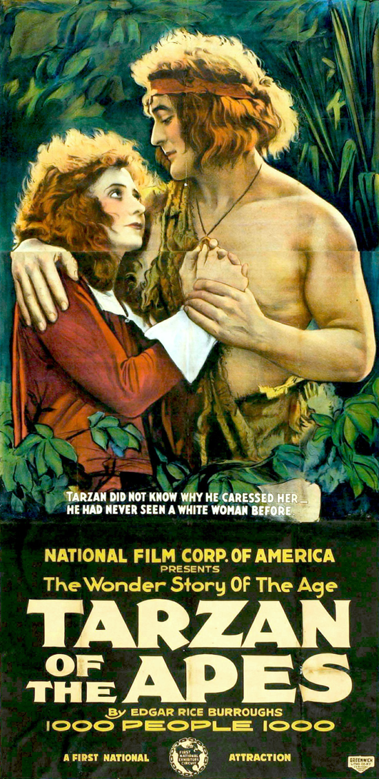 Tarzan of the Apes theatrical poster 1918
