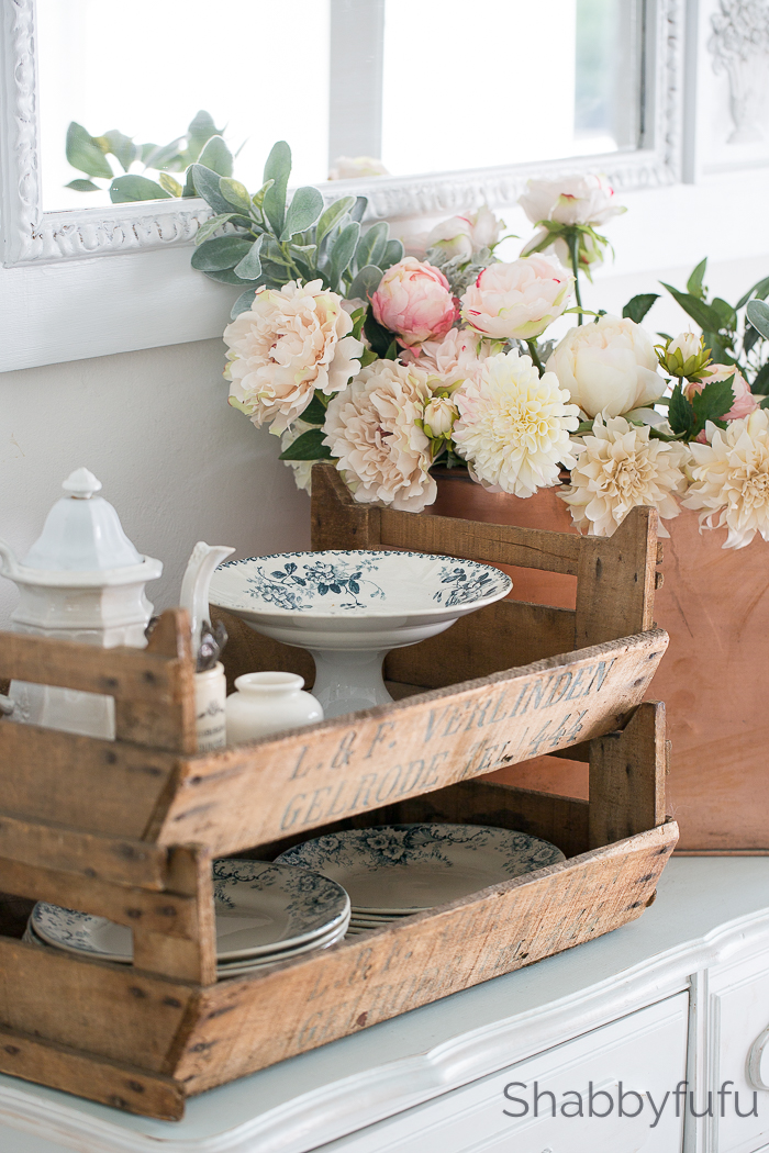 vintage french fruit crates