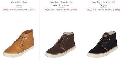 zapatillas altas de piel