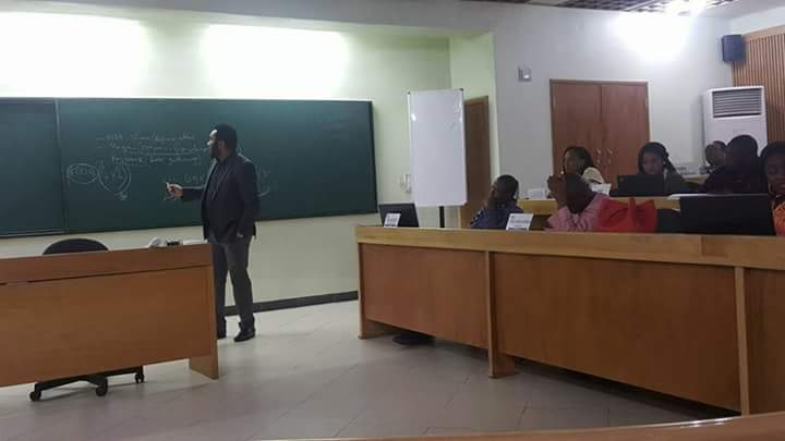 Taking a class at Lagos Business School. He who knows the way shows the way