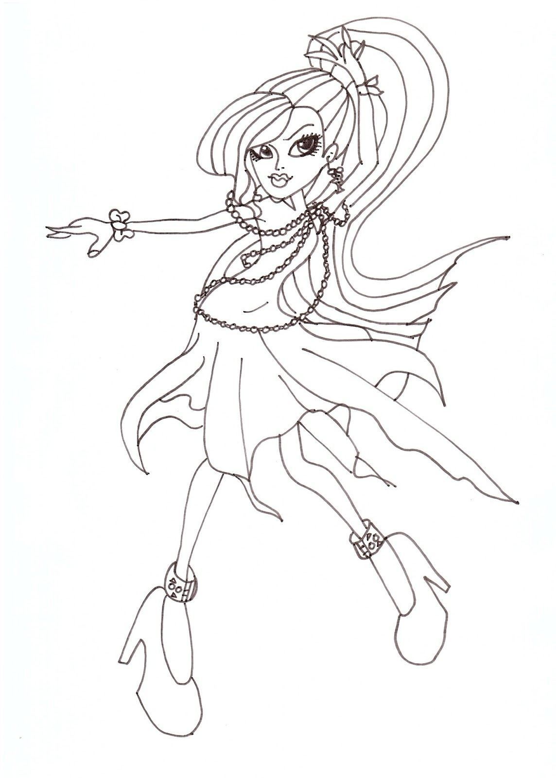 Free Printable Monster High Coloring Pages: Spectra Dot