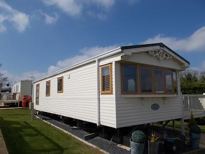 static caravan windows and doors in Irish oak