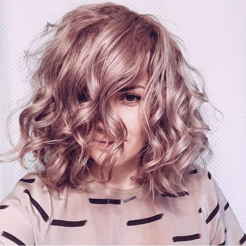 Medium Hairstyles Grazing Copper Coated Wavy Locks #hair #hairstyles #haircolor