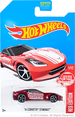 hot wheels red edition 2017 corvette stingray