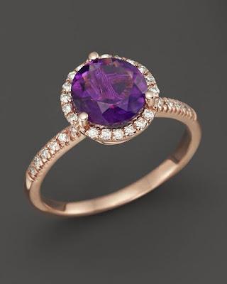 Ultraviolet gemstone engagement rings