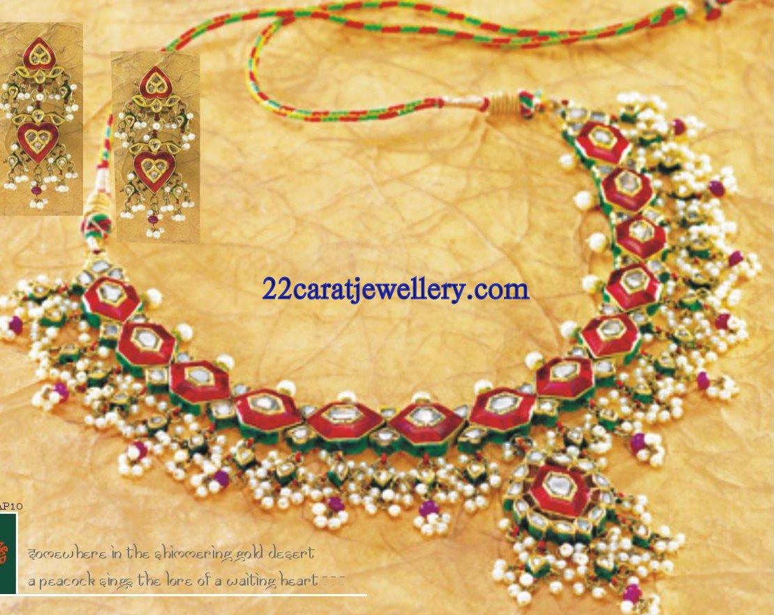 Tanishq Kundan Necklace Set Gallery Jewellery Designs