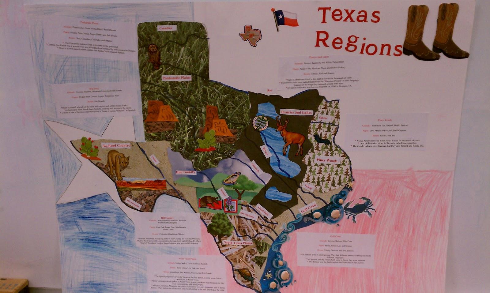Ccs Fourth Grade Texas Regions Project