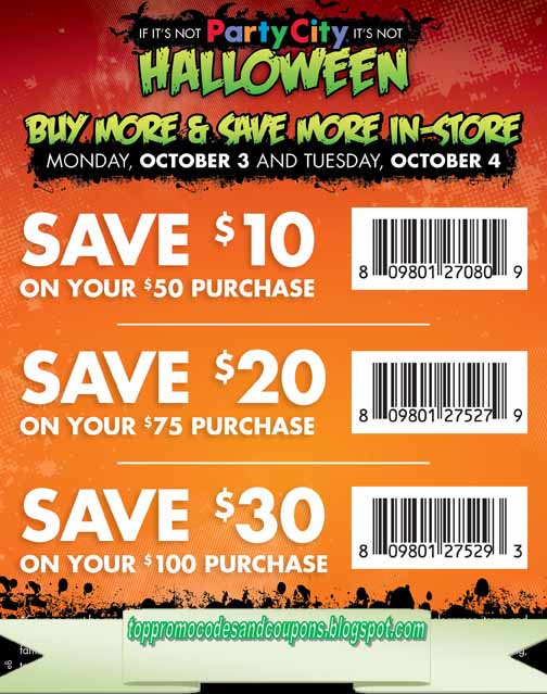 Free Promo Codes and Coupons 2018: Party City Coupons