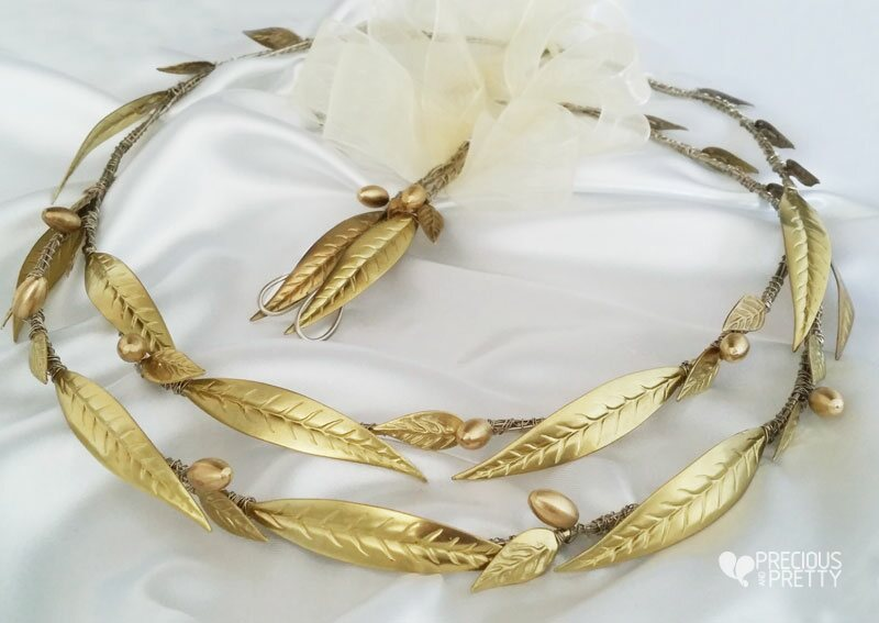 Stefana Wedding Crowns Ancient Greek Style N601