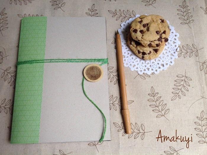 Como hacer una libreta con una caja de cereales
