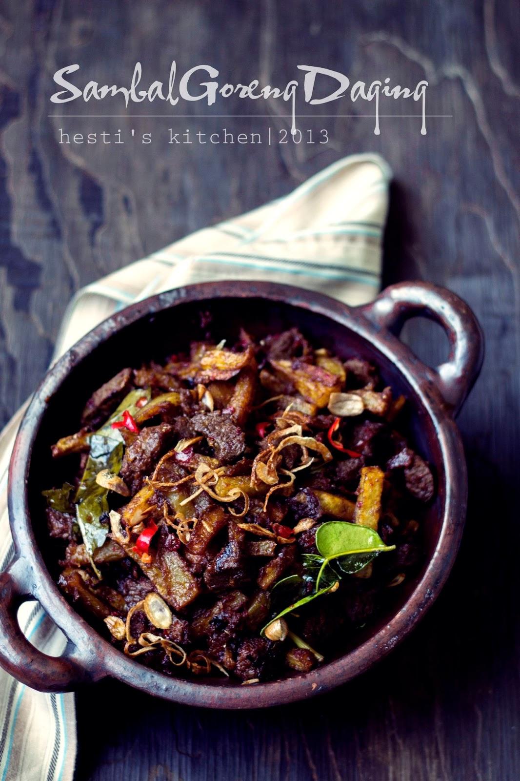 Resep Sambal Goreng Daging : resep, sambal, goreng, daging, HESTI'S, KITCHEN, Yummy, Tummy:, Sambal, Goreng, Daging