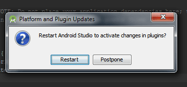 Platform and Plugin Updates Android Studio