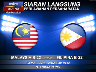 live streaming Malaysia vs filipina 23.3.2016