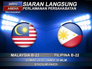 live streaming Malaysia vs filipina 23.3.2016