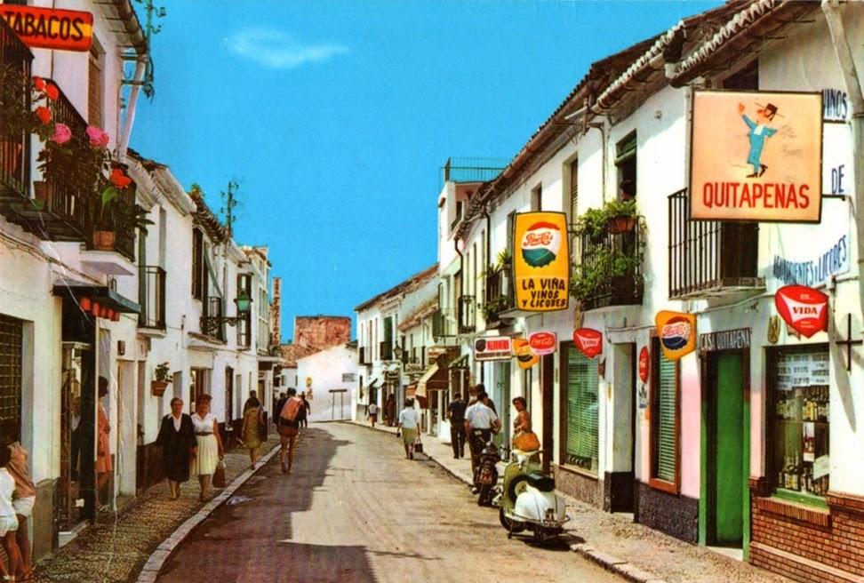 Postales Antiguas de Andalucía: Calle San Miguel de Torremolinos (Málaga)