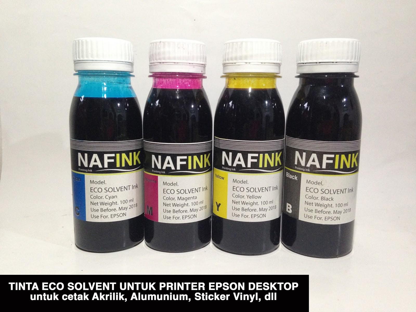 Jual Tinta Eco Solvent Dye Ink Untuk Printer Epson Merek Nafink Super Black Pigment 100ml