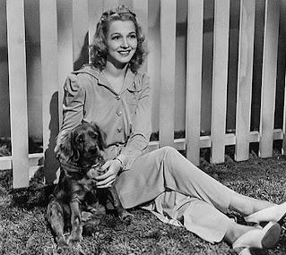Carole Landis With A Dog