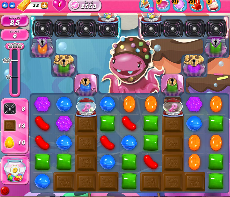 Candy Crush Saga level 2558
