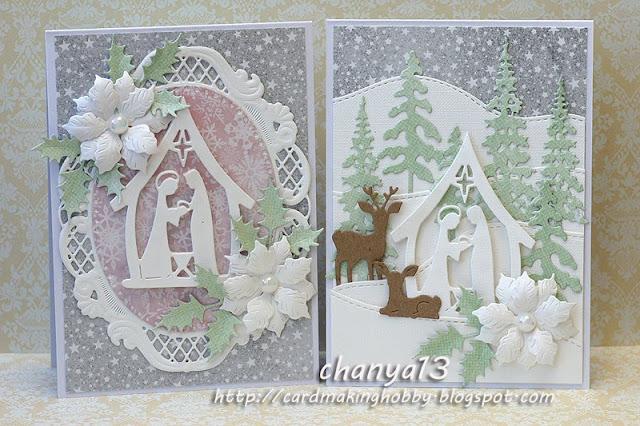 Pastelowe świąteczne karteczki