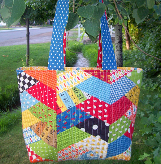 Herringbone Haul-It-All Tote Free Quilt Tutorial