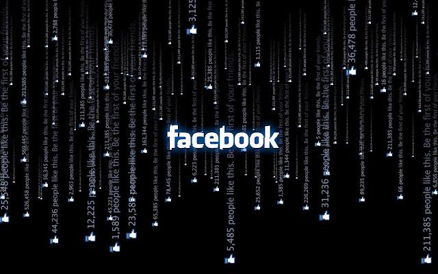 Zwarte Facebook achtergrond