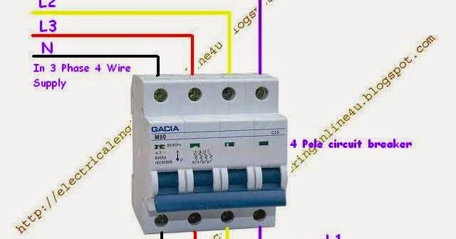 how to wire 4 pole circuit breaker for 3 phase 4 wire electrical 3 phase switch wiring diagram basic 3 phase switch wire diagram